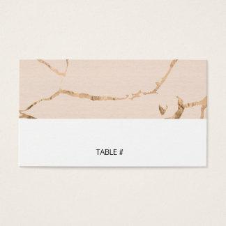 Rosa und GoldmarmorPlatzkarten - flach Visitenkarte