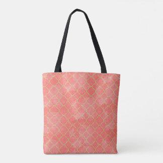 Rosa und Goldviertelfolien-Tasche Tasche