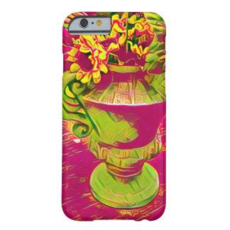 Rosa und grüner Blumen iPhone Mit Blumenkasten Barely There iPhone 6 Hülle