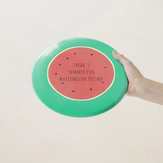 Rosa und grüner Sommer-Spaß-WassermeloneFrisbee Wham-O Frisbee