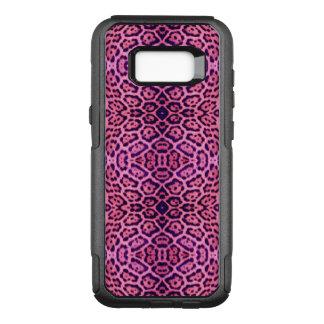 Rosa und lila Jaguar-Pelz OtterBox Commuter Samsung Galaxy S8+ Hülle