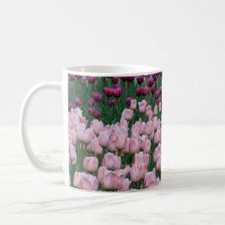 Rosa und lila Tulpe-Tasse Kaffeetasse