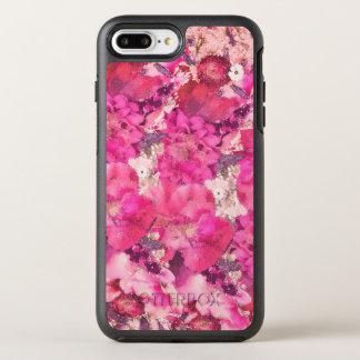 Rosa und lila Watercolor-Blumen-Blüten OtterBox Symmetry iPhone 8 Plus/7 Plus Hülle