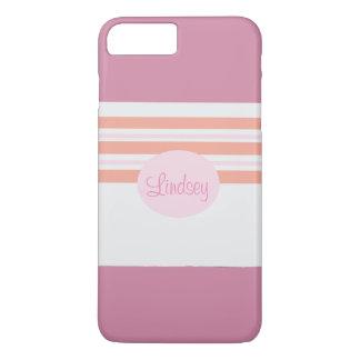 Rosa und orange gestreifter Telefon-Kasten iPhone 8 Plus/7 Plus Hülle