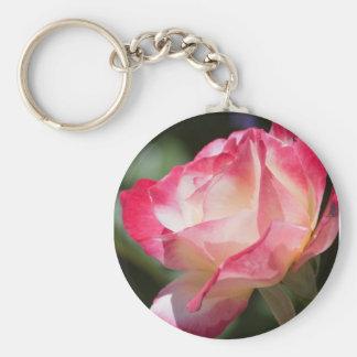 Rosa und SahneRose Keychain Schlüsselanhänger