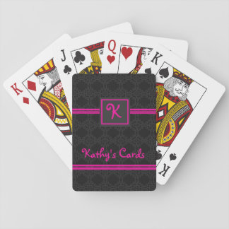 Rosa-und Schwarz-personalisierte Spielkarten Pokerkarte