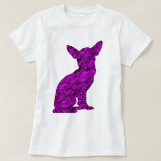 Rosa und schwarze Chihuahua-Silhouette T-Shirt