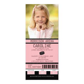 Rosa und schwarzer 10,2 x 23,5 cm einladungskarte