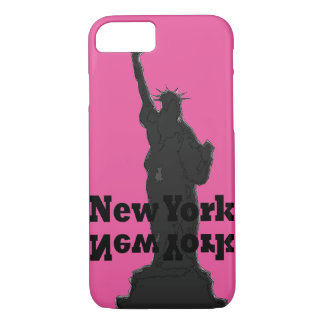Rosa und schwarzer iPhone Kasten New York City iPhone 7 Hülle