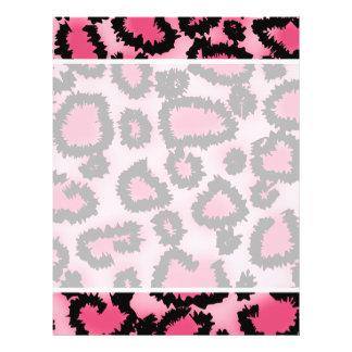 Rosa und schwarzes Leopard-Druck-Muster 21,6 X 27,9 Cm Flyer