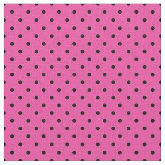 Rosa und schwarzes Tupfen-Gewebe, Mikropunkt Stoff