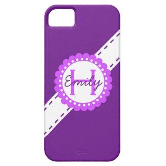Rosa und violetter Monogramm iPhone 5 Kasten iPhone 5 Etui