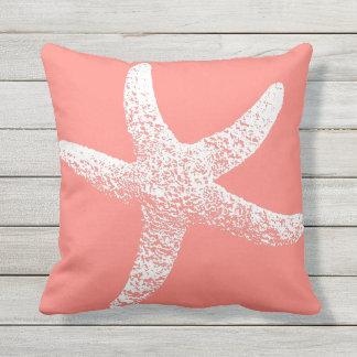 Rosa und weiße Starfish-Wurfs-Kissen im Freien Kissen Für Draußen