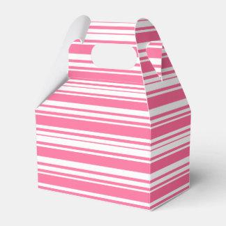 Rosa und weiße Streifen, die Party-Kasten Wedding Geschenkschachtel