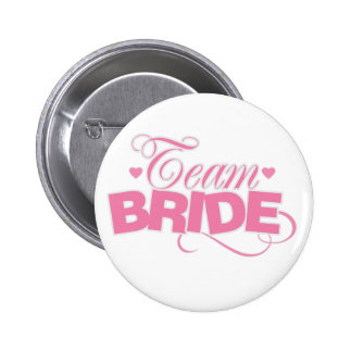 Rosa und weiße Team-Braut Runder Button 5,7 Cm