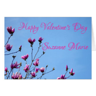 Rosa Valentine-Blumen Karte