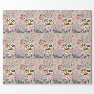 Rosa Verpackungspapier der hübschen Vintagen Geschenkpapier