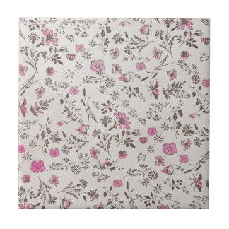 rosa Vintage Blumen Kacheln