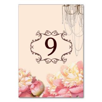 rosa Vintage Blumenleuchter-Frühlingshochzeit Karte