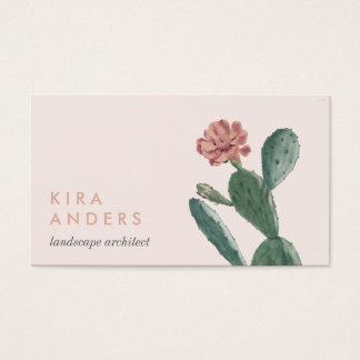 Rosa Vintage Kaktus-Geschäfts-Karten Visitenkarte