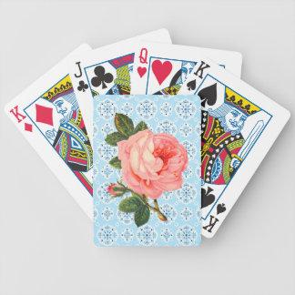 Rosa Vintage Rosen-Spielkarten Bicycle Spielkarten
