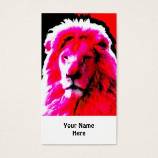 Rosa Visitenkartehauptweiß des Löwes Visitenkarte