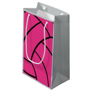 Rosa Volleyball-Geschenk-Tasche Kleine Geschenktüte