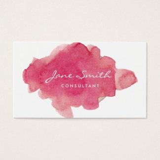 Rosa Wasser-Farbe platsch Visitenkarte