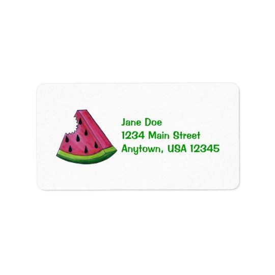 Rosa Wassermelone-fruchtiges Adressaufkleber