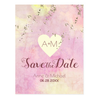 rosa Watercolor, der SAVE THE DATE wedding ist Postkarte