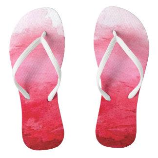 Rosa Watercolor drehen Reinfall um Flip Flops