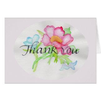 Rosa Watercolor-wilde Rosen-Miniblumenblumenstrauß Karte