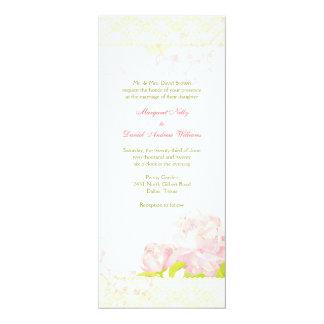 Rosa Wedding Wirbel des 10,2 X 23,5 Cm Einladungskarte
