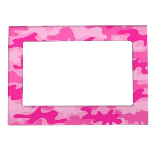 Rosa weibliche Camouflage-Tarnungs-Mädchen Magnetischer Bilderrahmen