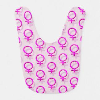 Rosa weiblicher Effekt des Sex-Symbol-3D deckte Lätzchen