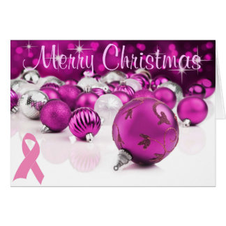 Rosa Weihnachtskarte Karte