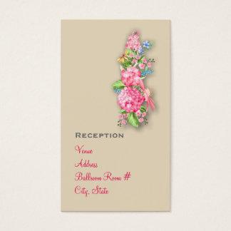 Rosa Wildblume-Blumenstrauß-Empfangs-Karten Visitenkarte