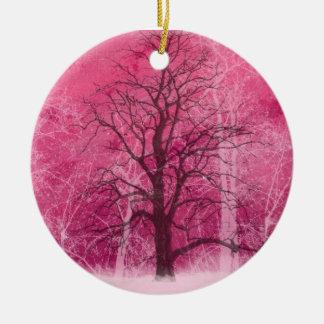 rosa Wintermärchenland oranament Keramik Ornament
