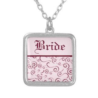 Rosa Wirbels-Braut-Halskette Versilberte Kette
