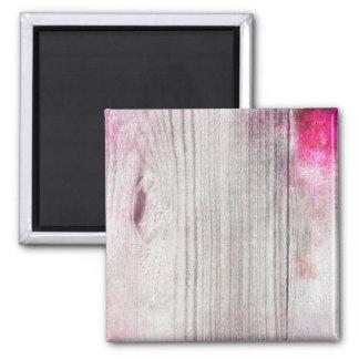 Rosa Woodgrain-Muster-Quadrat-Magnet Quadratischer Magnet
