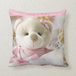 Rosa Wurfs-Kissen-Baby-Teddybär Kissen