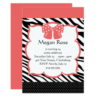 Rosa Zebra-Tierdruck Karte