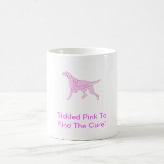 Rosa Zeiger-Hund Kaffeetasse