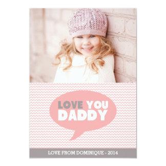 Rosa Zickzack der Vatertags-Karte des Liebe-Sie 12,7 X 17,8 Cm Einladungskarte