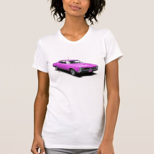 Rosa Ziegen-Vintager Muskel-Auto-Damen-T - Shirt