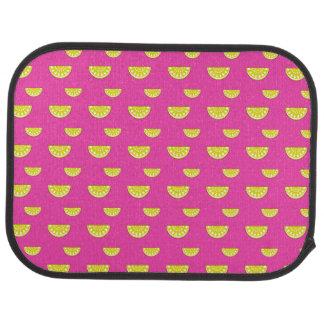 Rosa Zitronen Autofußmatte