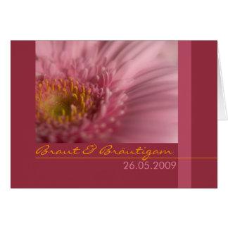 RosaGerbera • Hochzeitseinladung Grußkarte