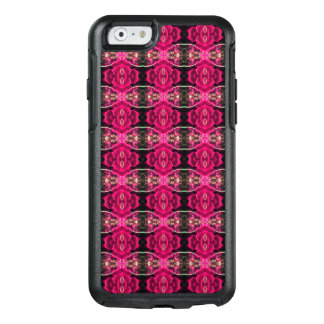 Rosaroter Spaß-alternativer Blumenillusions-Druck OtterBox iPhone 6/6s Hülle