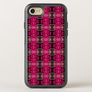 Rosaroter Spaß-alternativer Blumenillusions-Druck OtterBox Symmetry iPhone 8/7 Hülle