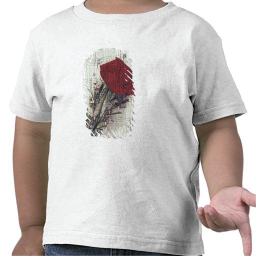 <Rose and Music> durch Kim Koza 2 Hemden
